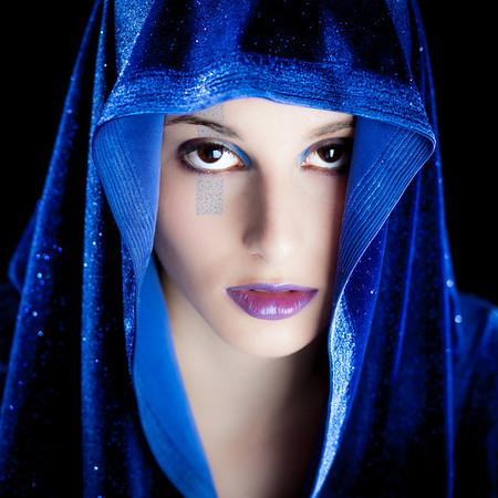 Blue alien shoot