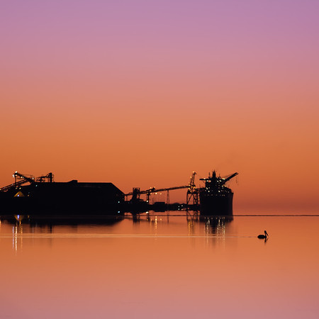 Port of Albany.  Pre-dawn.