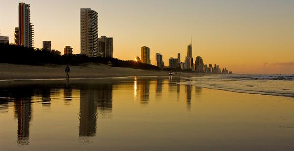Broadbeach, Queensland Australia (at Sunset)